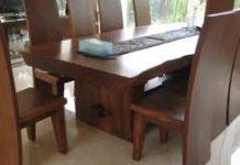 Meja Makan Kayu