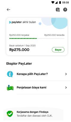 cara daftar PayLater